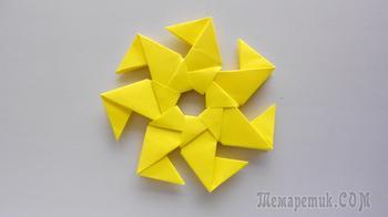 Модульная звезда из бумаги. Простая оригами поделка для детей