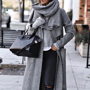 16 примеров как завязать шарф на шее разными способами