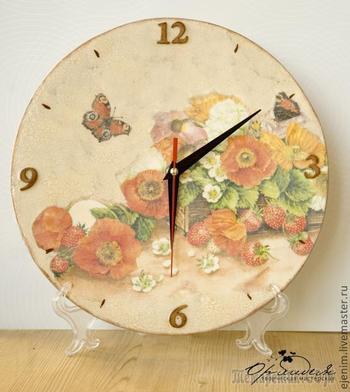 Декупаж. Часы с одношаговым кракелюром (для начинающих)
