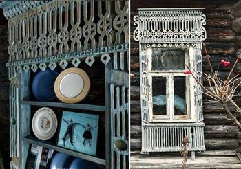 Колоритные шедевры из наличников от старых деревенских домов