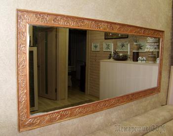 Рама для зеркала из ниток