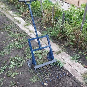 Чудо лопата Гектар, вилы на колесах , супер лопата, изобретение для огорода, и хозяйства