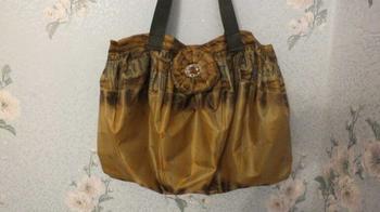 Отличная сумка из старого зонтика