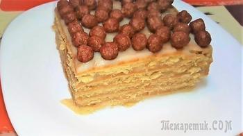 Торт без выпечки из печенья с заварным кремом