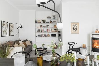 Простая и уютная квартира для молодой семьи в Швеции (70 кв. м)