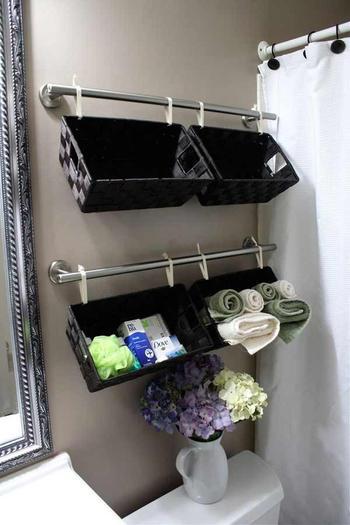 Идеи использования корзин для увеличения полезного пространства
