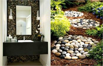 Крутые идеи использования природных камней в оформлении дома и сада
