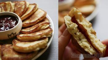 Оладьи с яблоком на кефире
