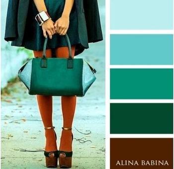 Идеальные цветовые комбинации в одежде