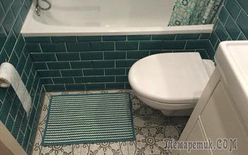 Ванная комната цвета морской волны