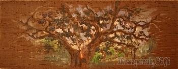 Пишу Акрилом. Душа дерева Венге. Миниатюрная картина на дереве Венге
