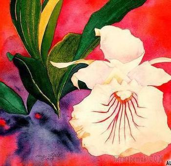 Цветочная акварель Сары Стил