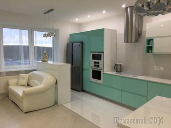 Кухня: мятный цвет и гордость хозяев