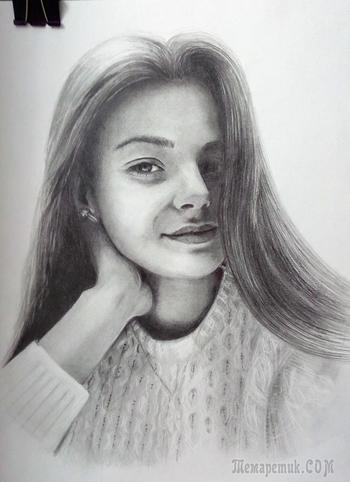 Портрет девушки. А3 простой карандаш