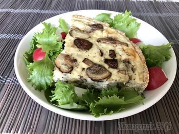 Грибной пирог - низкоуглеводный рецепт