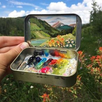 Миниатюрные пейзажи художницы-самоучки Хейди Аннализ