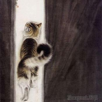 Современный художник Сюй Синьци (徐新奇) Sui Sintsi (Xu Xin) - кошки, коты и котята