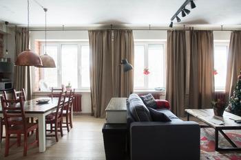Загородная квартира с необычными дизайнерскими идеями