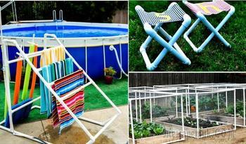 18 нестандартных идей применения ПВХ-труб на садовом участке, которые захочется опробовать летом