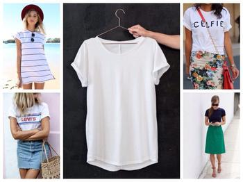 Футболки и платье-футболка — основа базы гардероба: используем по максимуму