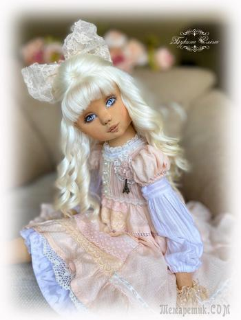 Луиза. Коллекционная текстильная кукла