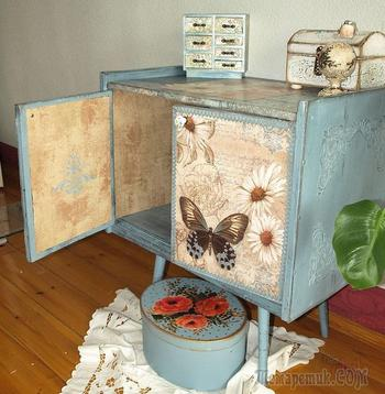 Декупаж мебели своими руками салфетками, обоями, тканью, лаком, краской, ДСП