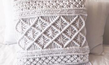 Чехол для подушки из обычного шнура