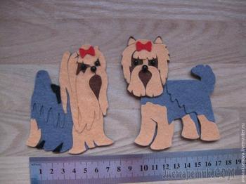 Собачка из фетра — оригинальный магнитик в подарок