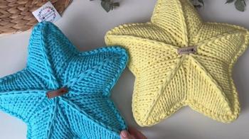 Звезда-подушка спицами