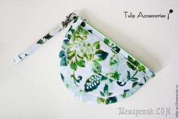 Весенний клатч-кошелек из фетра своими руками
