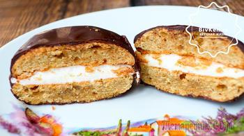Домашнее печенье с зефиром чокопай