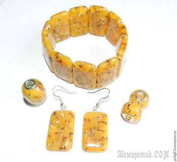 Делаем браслет из полупрозрачной пластики (имитация янтаря)