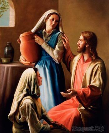Святые Мария и Марфа - Новый завет