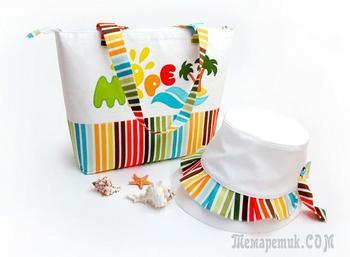 Шьём пляжную сумочку и панамку для девочки