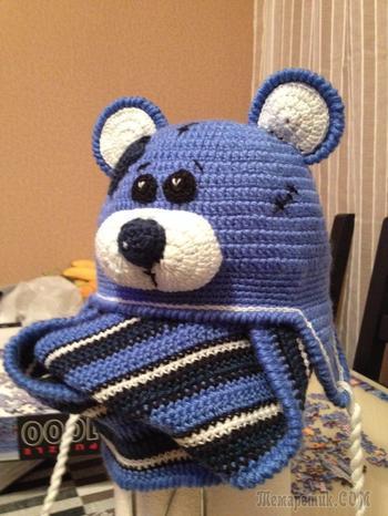 Мой Тедди (шапка для мальчика)