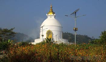 Непал. Гималаи. Трек вокруг Аннапурны. 16. Покхара - Ступа Мира