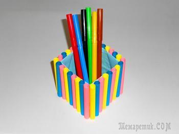 Подставка для ручек и карандашей своими руками.