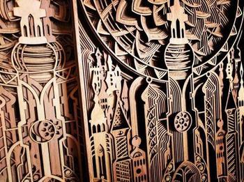 Резные деревянные картины от художника Габриэля Шамы