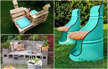 Бюджетная садовая мебель, которую в два счета можно сделать из подручных материалов