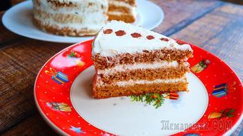 Нежный медовый торт без раскатки коржей