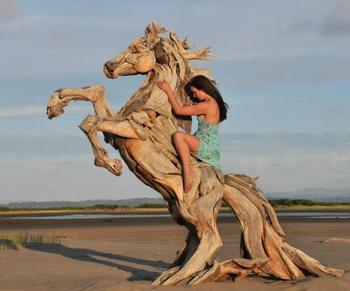 Скульптуры из сухих деревяшек, от которых захватывает дух