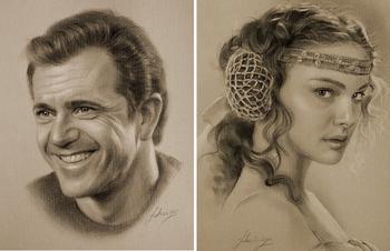 Голливудские звезды в простом карандаше : шедевры портретной графики