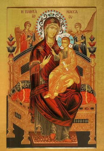 """Храм иконы Божией Матери «Всецарица», молитвы перед иконой Пресвятой Богородицы """"Всецарица"""""""