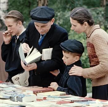 Архангельск, уличная торговля книгами, 1958 год