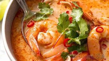Суп том ям с креветками за 15 минут | Тайская кухня