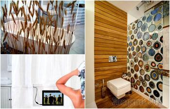 17 оригинальных штор, которые станут функциональной изюминкой любой ванной комнаты
