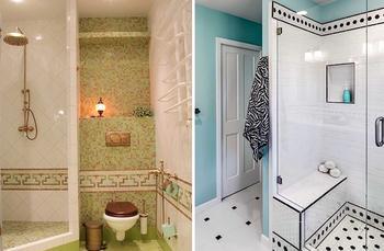 Идеи оформления ванной комнаты с душевой кабинкой