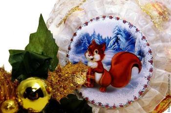 """Сладкий подарок """"Новогодний шар"""" своими руками"""