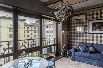 Стиль лофт: дизайн маленькой квартиры (33 кв. м)