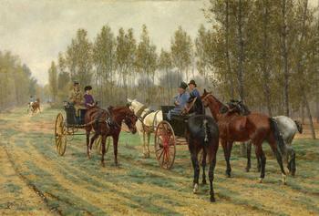 Конные прогулки французского художника